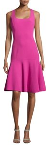 Michael Kors short dress Pink Peplum Flare Flutter on Tradesy