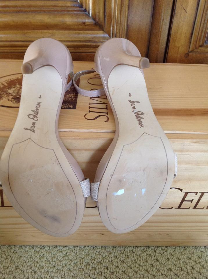 f5210d17a5f3 Sam Edelman Nude Blush Eleanor Ankle Strap Sandals Size US 8 Regular ...