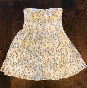 Rebecca Taylor short dress white/blue floral on Tradesy