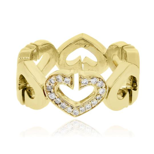 Cartier Cartier 18k Yellow Gold 0.06ctw Diamond Hearts and Symbols Ring