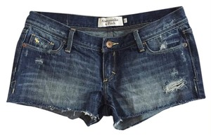 Abercrombie & Fitch Cut Off Shorts Dark Wash
