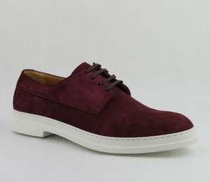 Gucci Men's Suede Leather Lace-up Shoes Dark Red 11.5 / Us 12.5 407297 6148