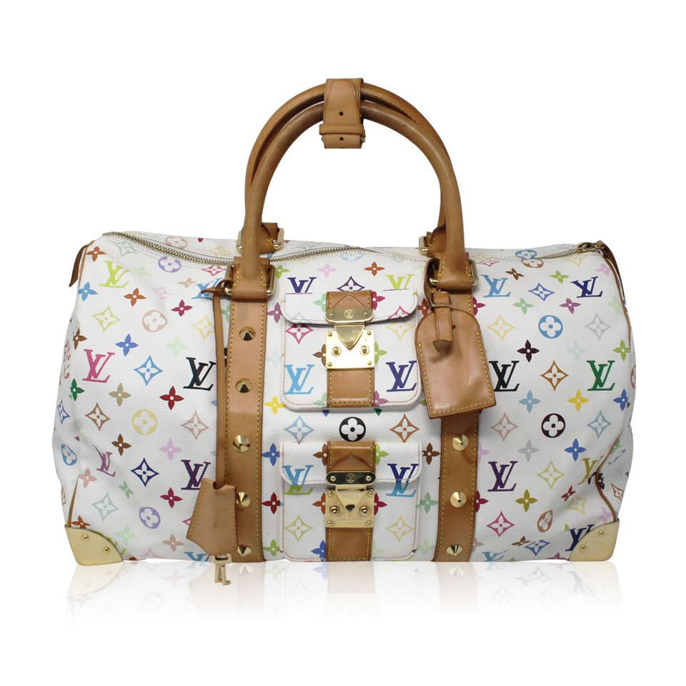 Louis Vuitton Murakami Keepall 45 White Multicolor Travel Bag