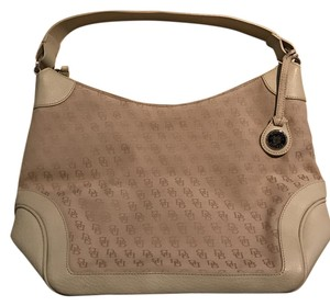 Dooney & Bourke Cotton Leather Hobo Bag