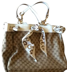 Gucci Tote in beige with white trim