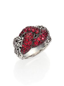 John Hardy RARE John Hardy Classic Chain Lava Small Braided Red Sapphire Ring