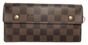 Louis Vuitton LOUIS VUITTON Accordeon Bifold Wallet Purse Damier Leather