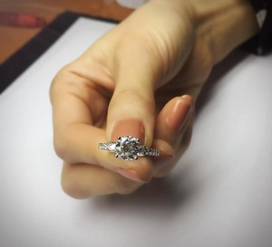 Handcrafted 1.59 Ctw. Diamond Ring