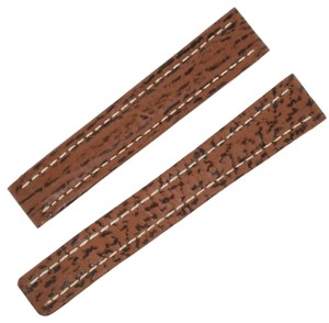 Breitling Breitling 15 -14 mm Genuine Brown Shark Leather Watch Band (12089)