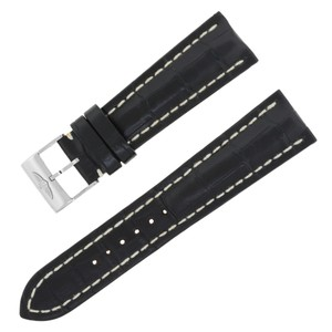 Breitling Breitling 760P 24-20mm Alligator Leather Black Watch Band w. (12583)