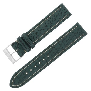 Breitling Breitling 18-18mm Genuine Leather Green Unisex Watch Band w. (12601)