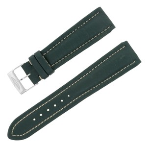 Breitling Breitling X168 22-18mm Genuine Leather Green Unisex Watch Band (12602)