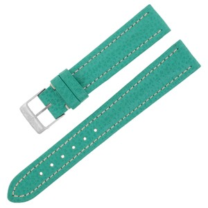 Breitling Breitling X907 16-14mm Genuine Leather Green Ladies Watch Band (12634)
