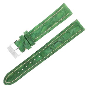 Breitling Breitling 15-14mm Genuine Alligator Leather Green Ladies Watch (12636)