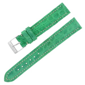 Breitling Breitling 15-14mm Alligator Leather Green Ladies Watch Band w. (12640)