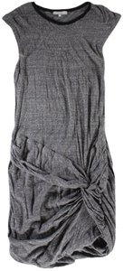 IRO short dress Gray Slub-cotton Ruched Gathered on Tradesy