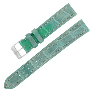 Breitling Breitling 15-14mm Alligator Leather Green Ladies Watch Band w. (12642)