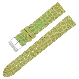Breitling Breitling 15-14mm Alligator Leather Green Ladies Watch Band w. (12643)