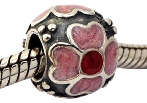 PANDORA Pandora Daisy with Red & Pink Enamel Sterling Silver Bead, 790433ER