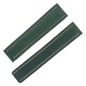 Breitling Breitling 22-18mm Genuine Leather Green Unisex Watch Band (12647)