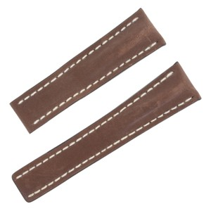 Breitling Breitling 444X 24-20mm Genuine Leather Brown Men's Watch Band (12654)
