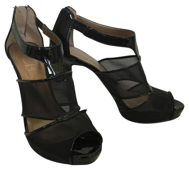 Item - Black Annita Mesh and Faux Patent Leather Heels Formal Shoes Size US 6.5 Regular (M, B)