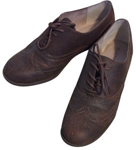 Merona Oxford Shoe Closed Toe Brown Brown/Bronze Flats