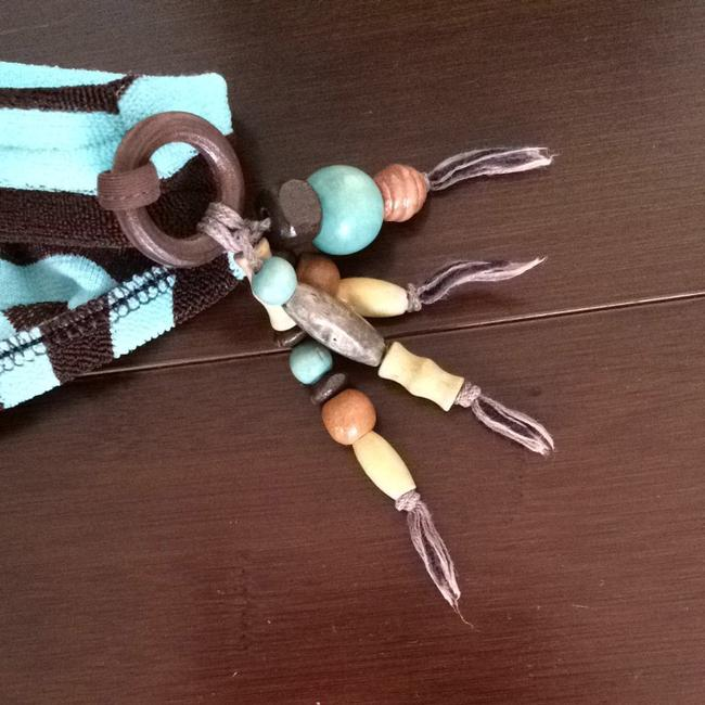 Playa Brown And Aqua Striped With Beads