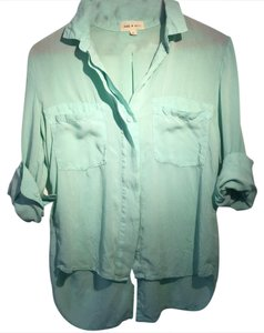 Anthropologie Button Down Shirt Mint