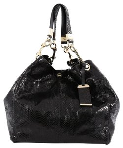 Jimmy Choo Python Tote in Black