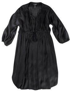 Isabel Marant short dress Black Ruched Tie-front Empire Waist Semi-sheer on Tradesy