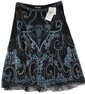 Basil & Maude & Windsor Sequin Beaded Skirt Black
