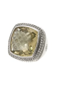 David Yurman David Yurman Sterling Silver 20mm Citrine & Diamond Albion Ring