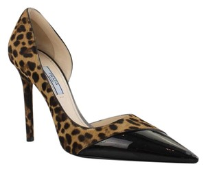 Prada Leopard Black Pumps