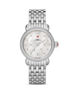 Michele $2200 NWT CSX Diamond Quilted MOP Dial Watch MWW03R000002