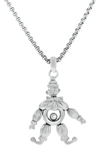 Chopard Chopard 18k White Gold Clown Charm Floating Diamond Necklace
