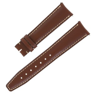 IWC IWC 39462 19 - 16 mm Genuine Leather Brown Men's Watch Band (11934)