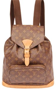 Louis Vuitton Gm Monogram Canvas Totes Leather Backpack