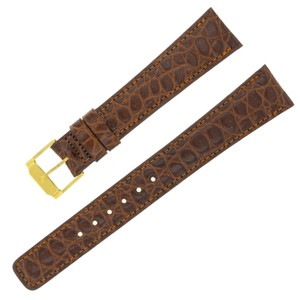 Movado Movado 18 - 14 mm Brown Leather Ladies Watch Band (7417)
