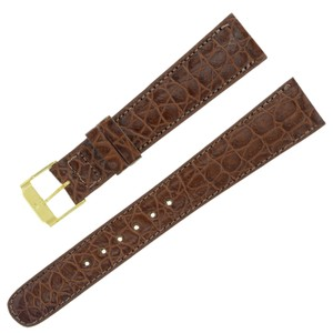 Movado Movado 18 - 13 mm Brown Leather Men's Watch Band (7449)