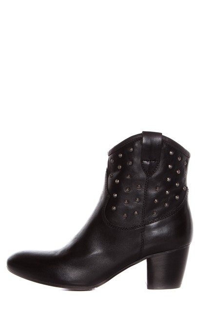 Sesto Meucci Black Leather with Silver Studs Boots/Booties Size US 9 Regular (M, B) Sesto Meucci Black Leather with Silver Studs Boots/Booties Size US 9 Regular (M, B) Image 1