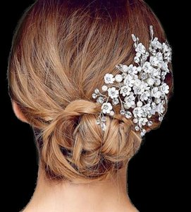Ansonia Bridal Beautiful Pearl And Crystal Wedding Hair Clip Bridal Comb - Wholesale