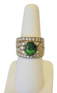 Technibond RARE Technibond Emerald Green CZ Ring size 7
