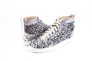0434ca727c3f Christian Louboutin   Louis Pik Pik Orlato Flat Black-white Python Cryst  Shoes