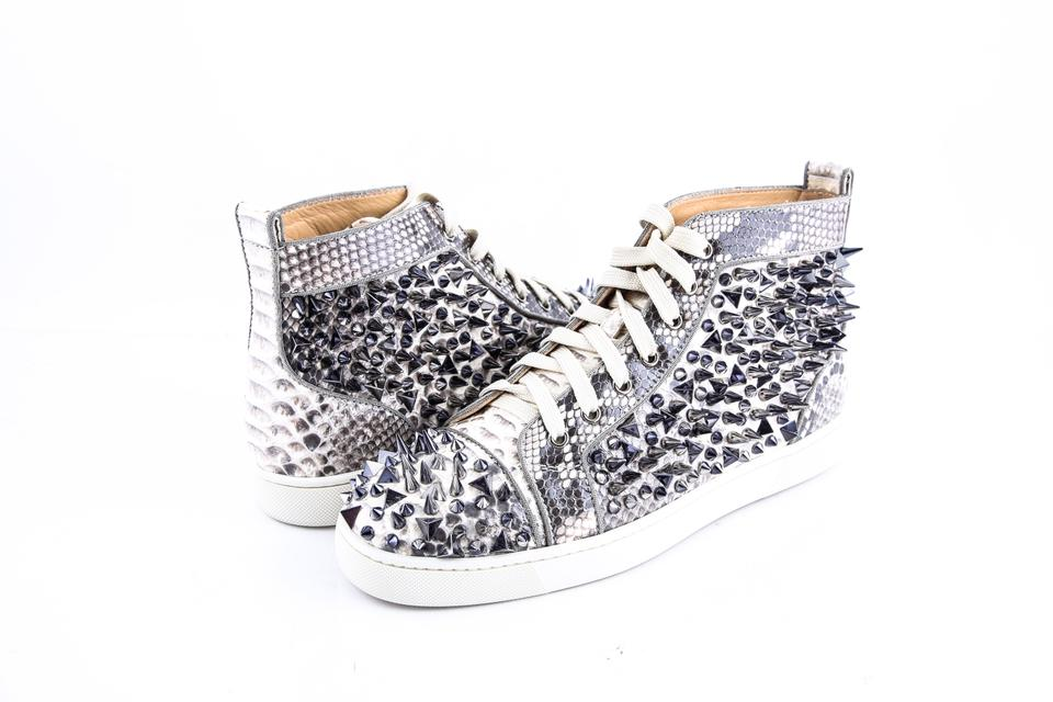 2e763738553 Christian Louboutin   Louis Pik Pik Orlato Flat Black-white Python Cryst  Shoes Image 0 ...