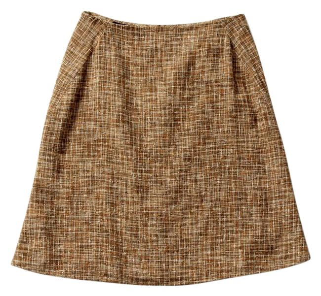 Item - Tan Linen Fitted Skirt Size 8 (M, 29, 30)