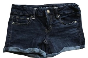 American Eagle Outfitters Cuffed Shorts Dark Denim