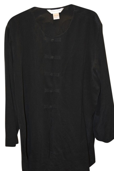 Preload https://item2.tradesy.com/images/casual-corner-black-silk-tunic-toggle-front-button-down-top-size-14-l-2091711-0-0.jpg?width=400&height=650