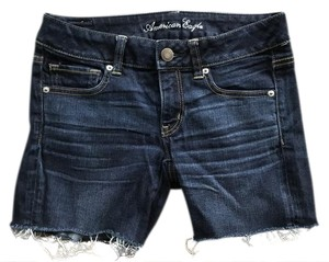 American Eagle Outfitters Cut Off Shorts Dark Denim