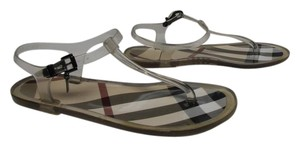 Burberry T-strap Jellies Plastic Plaid Made In Italy clear Sandals